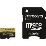 Mémoire Transcend MicroSDHC 32GB 633x + Adaptateur SD