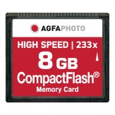 Carte mémoire Compact Flash AgfaPhoto 8GB High Speed 233x M