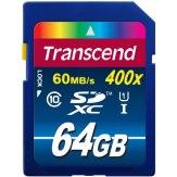 Mémoire SDXC Transcend 64GB Classe 10 UHS-I 400x
