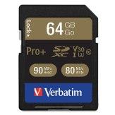 Carte mémoire SDXC Verbatim 64GB Pro+ UHS-I