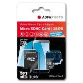 Carte mémoire AgfaPhoto MicroSDHC Profesional High Speed UHS I 16GB