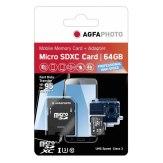 Carte mémoire AgfaPhoto MicroSDXC  64GB Professional High Speed UHS I