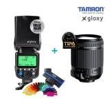 Objectif Tamron 18-200mm + Flash Gloxy GX-F990 TTL HSS