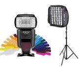 Flash Gloxy GX-F1000 TTL HSS + Softbox Grid et Support