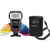 Flash Gloxy GX-F1000 TTL HSS + Batterie externe Gloxy GX-EX2500