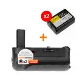 Kit Grip d'alimentation Gloxy GX-A6000 + 2 Batteries NP-FW50