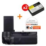 Kit Grip d'alimentation Gloxy GX-1100D + 2 Batteries LP-E10