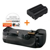 Kit Grip d'alimentation Gloxy GX-D10 + Batterie EN-EL3