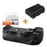 Kit Grip d'alimentation Gloxy GX-D10 + Batterie EN-EL3e