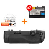 Kit Grip d'alimentation Gloxy GX-D16 + 2 Batteries EN-EL15