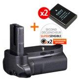 Kit Grip d'alimentation Gloxy GX-D3100 + 2 Batteries EN-EL14