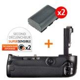 Kit Grip d'alimentation Gloxy GX-E6 + 2 Batteries LP-E6
