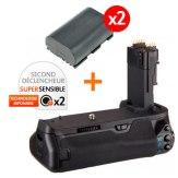Kit Grip d'alimentation Gloxy GX-E13 + 2 Batteries LP-E6