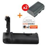 Kit Grip d'alimentation Gloxy GX-E14 + 2 Batteries LP-E6