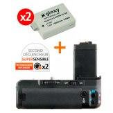 Kit Grip Alimentation Gloxy GX-E5 + 2 Batteries LP-E5