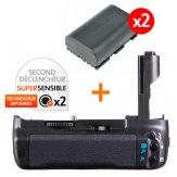 Kit Grip d'alimentation Gloxy GX-E7 + 2 Batteries LP-E6