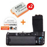 Kit Grip d'alimentation Gloxy GX-E8 + 2 Batteries LP-E8