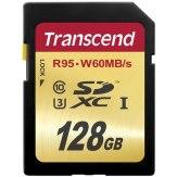 Carte mémoire SDXC Transcend 128GB Classe 10 UHS-I Speed
