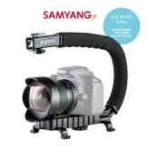 Kit pour Vidéo Samyang Fish-eye 8 mm et Stabilisateur pour Vidéo