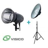 Visico Kit avec un flash studio VL-400 Plus + un support + un Beauty Dish
