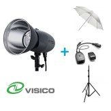 Visico Kit Flash Studio VL-400 Plus + Support + Parapluie Translucide + Déclencheur VC-816