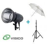 Visico Kit Flash Studio Visico VL-400 Plus + Support + Parapluie translucide