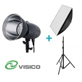 Visico Kit Flash Studio VL-400 Plus + Support + Softbox 80x120cm