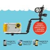 Kit Caisson sous-marin SeaShell pour Smartphones + Torche Subaquatique