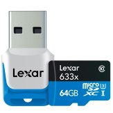 Carte mémoire microSDXC Lexar 64GB 633x UHS-I + Lecteur USB 3.0