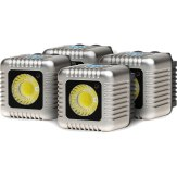 Kit 4x torches LED Lume Cube Argent