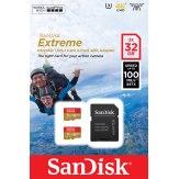 Carte mémoire microSDHC SanDisk ActionSC  32GB x2 Extreme