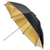 Visico Parapluie réflecteur Doré et Noir UB-006G 110cm