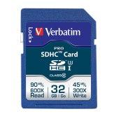 Carte mémoire SDHC Verbatim 32GB Pro Classe 10