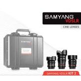 Kit Cinéma Samyang 14mm, 35mm, 85mm Micro 4/3