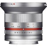 Objectif Samyang 12mm f/2.0 Samsung NX Argenté