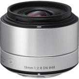 Objectif Sigma 19mm f/2,8 DN Micro Quatre tiers - Argenté