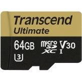 Carte mémoire microSDXC Transcend  64GB UHS-I MLC U3M