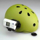 Support lateral pour casque VCT-HSM1 compatible avec l'Action Cam Sony