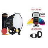 Kit MagMod MagBox 24 Octa Pro + 2 Flashs Gloxy GX-F1000 TTL HSS
