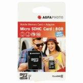 Carte mémoire microSDHC AgfaPhoto 8GB Mobile High Speed + Adaptateur