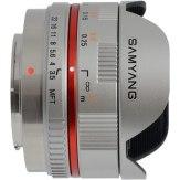 Objectif Samyang 7.5mm f/3.5 UMC Fish-eye Micro 4/3 Argenté