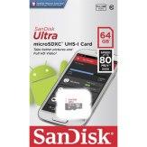 SanDisk Ultra Carte Mémoire microSDXC 64 GB 80MB/s