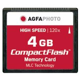 Mémoire Compacte Flash AgfaPhoto 4GB 120x MLC