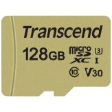Transcend Carte mémoire microSDXC 128GB 500S