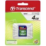 Carte mémoire SDHC Transcend 4GB Classe 4