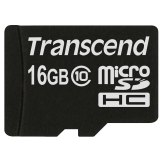 Transcend Carte Mémoire MicroSDHC 16GB Classe 10