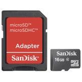Carte mémoire Sandisk MicroSDHC 16GB / incl. adaptateur