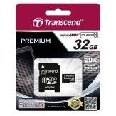 Carte mémoire Transcend MicroSDHC Card 32GB Class 10 / avec adaptateur