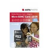 Carte mémoire AgfaPhoto Mobile High Speed 16GB MicroSDHC Classe 10 + adaptateur