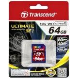 Carte mémoire SDXC Transcend 64GB Classe 10 / UHS-I